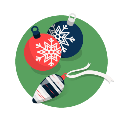 Christmas baubles graphic