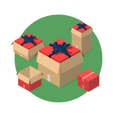 Christmas cardboard packaging graphic