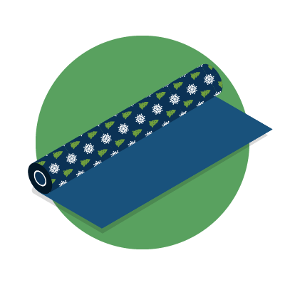 Christmas wrapping paper graphic