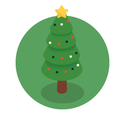 Green Christmas tree graphic