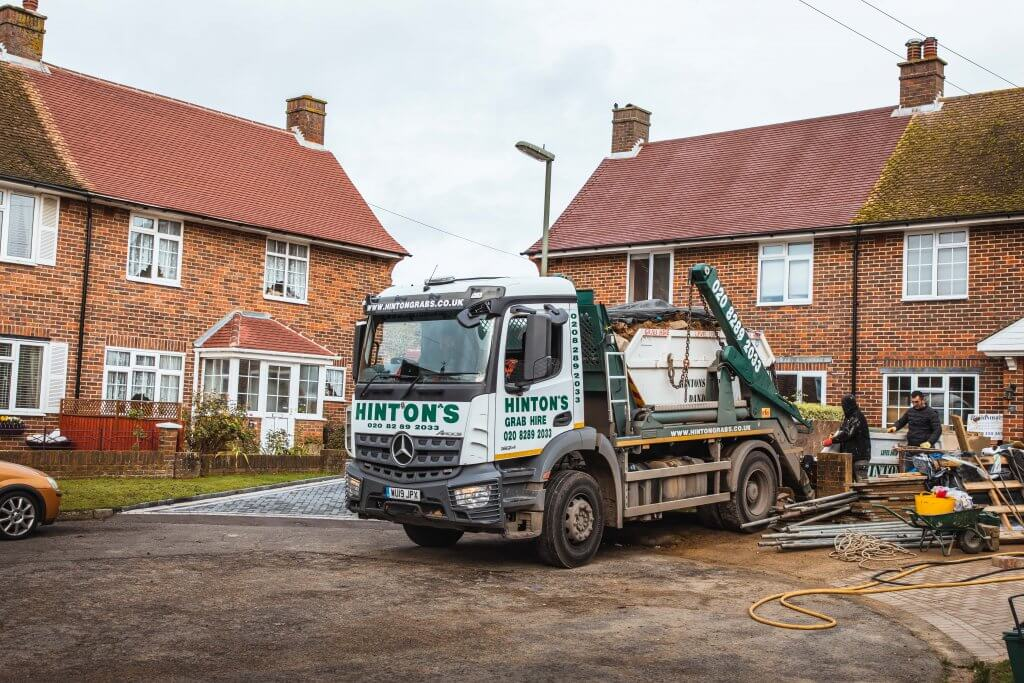 Removing skip from domestic property